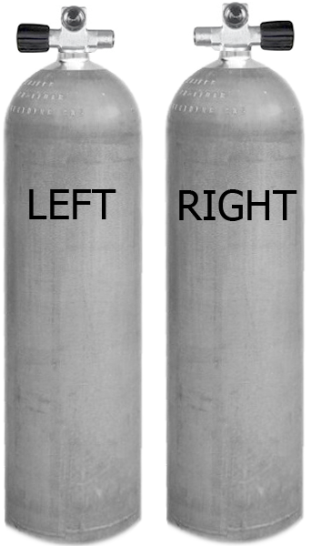 Sidemount Cylinder (2pcs)